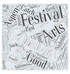 Aspen nightlife us comedy arts festival word cloud vector