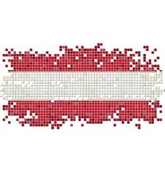 Austrian grunge tile flag vector