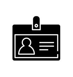 badge black icon concept vector image