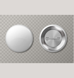 badge mockup 3d plastic circle tags with copy vector image