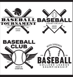 Baseball labels badges logos set national vector