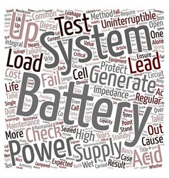 Battery Maintenance text background wordcloud vector image