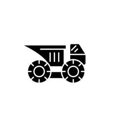 big construction machine black icon sign vector image