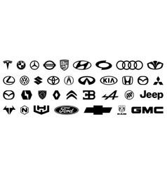 Big set car brand logo vector