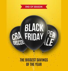 black friday sale design for brochure flyer vector image