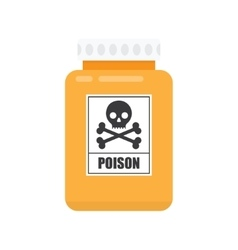 Bottle of poison icon vector image