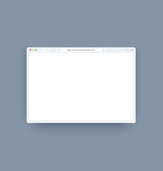Browser template set in light theme for website vector