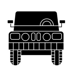 Car jeep front view icon vector