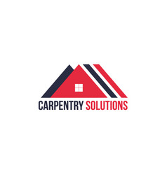 carpentry stairs construction company icon vector image