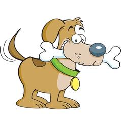Cartoon Dog with a Bone vector image