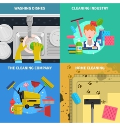 Cleaning Concept Icons Set vector