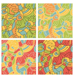 Colored patterns vector