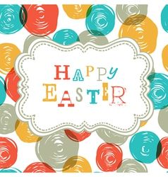 colorful happy easter card design vector image