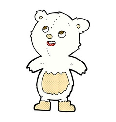 comic cartoon polar bear vector image