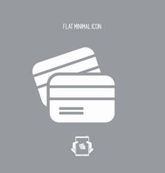 credit card - minimal icon vector image
