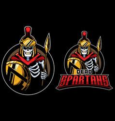dead spartans mascot vector image