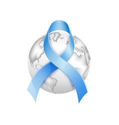 diabetes day awareness symbol blue ribbon vector image