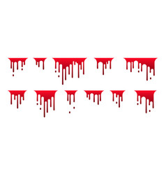 Dripping blood icon paint flows current paint vector