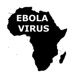 Ebola virus in Africa vector image