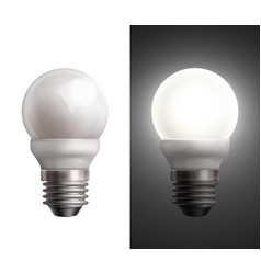 energy saving lamps vector image