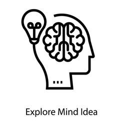 Explore mind idea vector