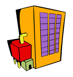 factory building icon icon cartoon vector image