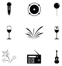 festival icon set vector image