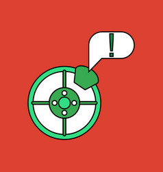 Flat icon design collection steering wheel and vector