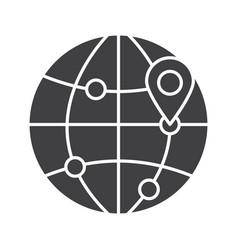 flight destinations glyph icon vector image