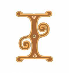 golden letter i vector image vector image