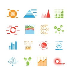 Graphs and charts icons or infographic elements vector image vector image