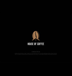 house rowith coffee bean for cafe bistro vector image