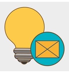 Idea envelope message icon vector