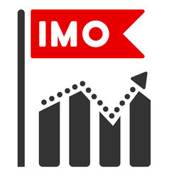 Imo chart trend flat icon vector