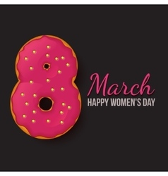 International Womens Day March 8 Doughnut eight vector image