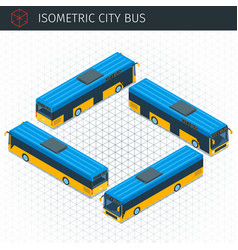 Isometric city bus vector
