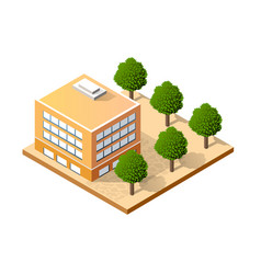isometric house urban vector image