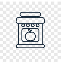 Jam concept linear icon isolated on transparent vector