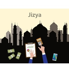 jizya islam moslem concept like tax give to vector image