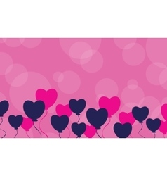 Landscape romance valentine day collection vector