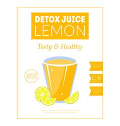 Lemon detox juice banner template tasty and vector