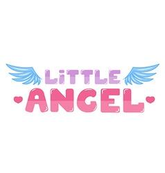 Little angel lettering vector