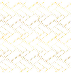 luxury seamless pattern golden cross lines vector image