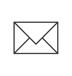 mail line icon on a white background vector image