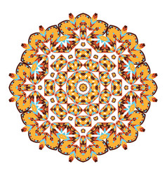 Mandala ethnicity round ornamentc vector
