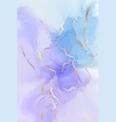 mauve and teal blue liquid watercolor background vector image