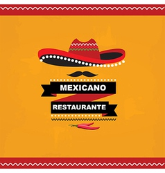 Menu mexican template design vector image