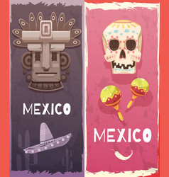 mexico vertical banners vector image