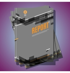 Modern Brochure Annual report Design Template vector