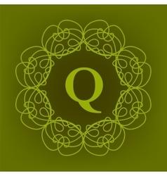 Monogram Q Design vector image